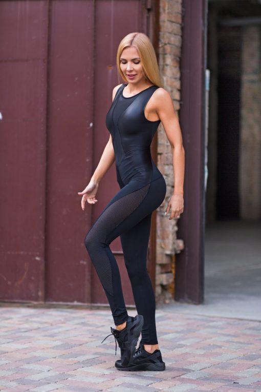 nuotrauka sportinio kombinezono Disco Black iš šono - Designed For Fitness