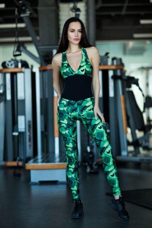 nuotrauka kombinezono Geometric Green - Desinged For Fitness