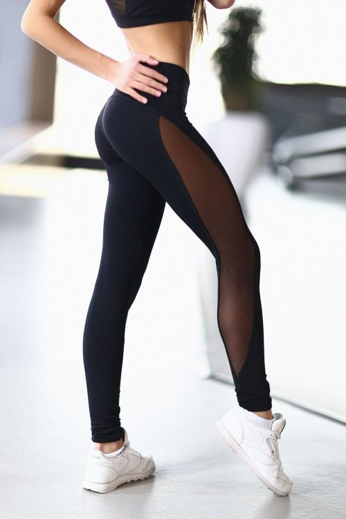 nuotrauka tamprės Basic Black iš šono - Designed For Fitness