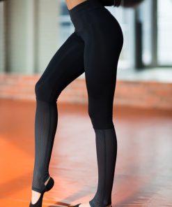 nuotrauka tamprės yoga total black iš šono - Designed For Fitness