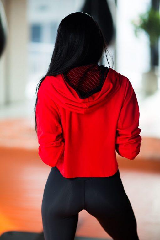 nuotrauka trumpo džemperio Red iš nugaros - Designed For Fitness