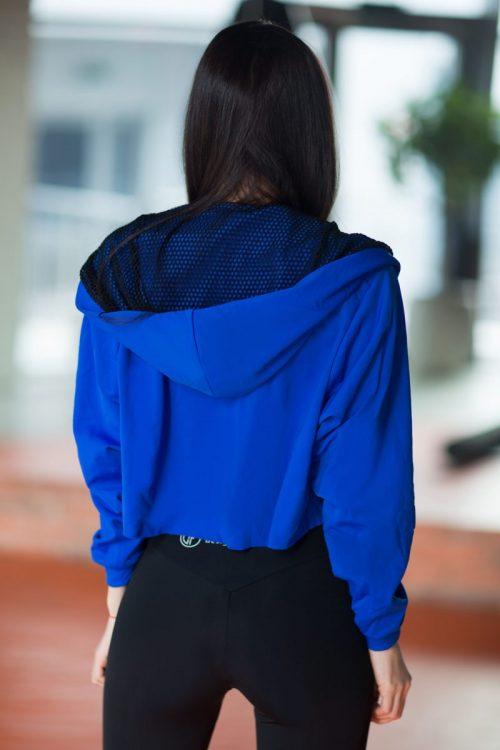 nuotrauka trumpo džemperio Royal Blue iš nugaros - Designed For Fitness