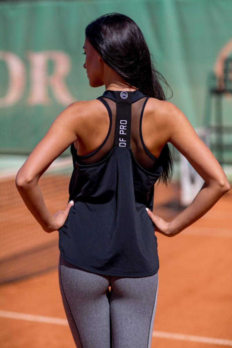 nuotrauka sportinės palaidinės Pro Black iš nugaros - Designed For Fitness