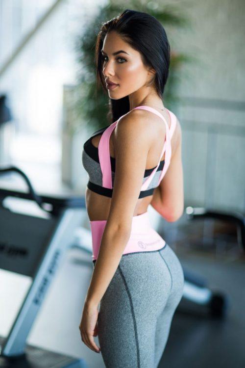 nuotrauka sportinės liemenėlės Jersey Milkshake šonu - Designed For Fitness