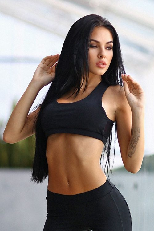 nuotrauka sportinės liemenėlės Black Net - Designed For Fitness