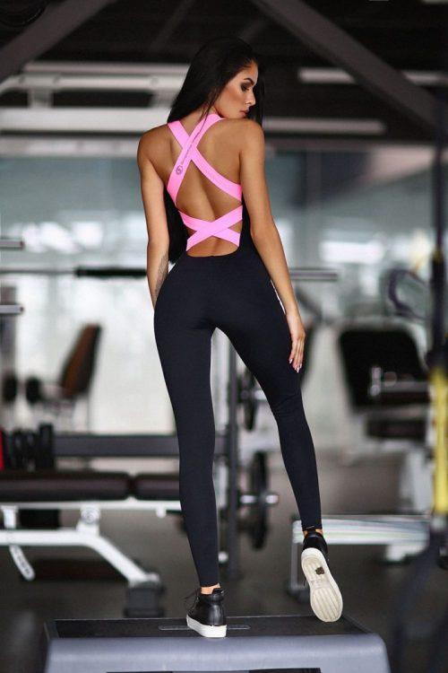nuotrauka kombinezono Black N Rose iš nugaros - Desinged For Fitness
