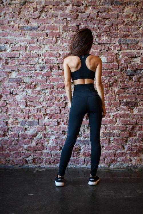 nuotrauka komplekto Black Corset iš nugaros - Designed For Fitness