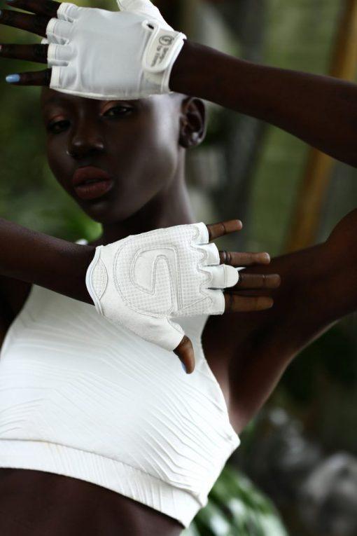 nuotrauka pirštinių Absolutely White - Designed For Fitness