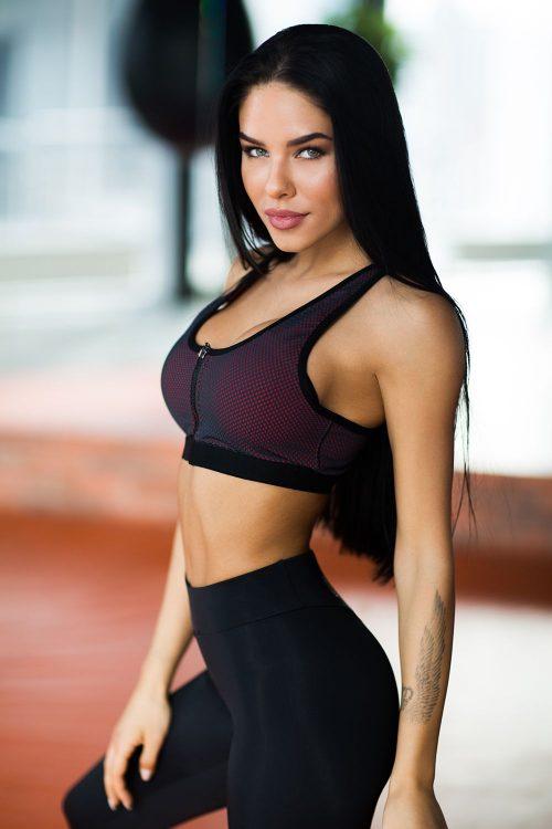 nuotrauka sportinės liemenėlės iš nugaros Paris Mesh iš šono - Designed For Fitness