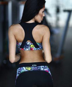 nuotrauka sportinės liemenėslė Comics iš nugaros- Designed For Fitness