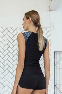 nuotrauka sportinių marškinėlių Gradient Grey iš nugaros - Designed For Fitness