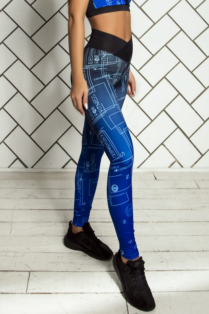 nuotrauka tamprių Gradient Indigo šonu - Designed For Fitnes