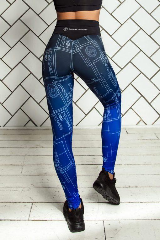 nuotrauka tamprių Gradient Indigo iš nugaros - Designed For Fitnes