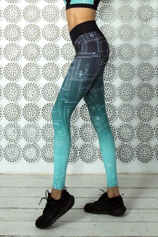 nuotrauka tamprių Gradient Mint šonu- Designed For Fitnes