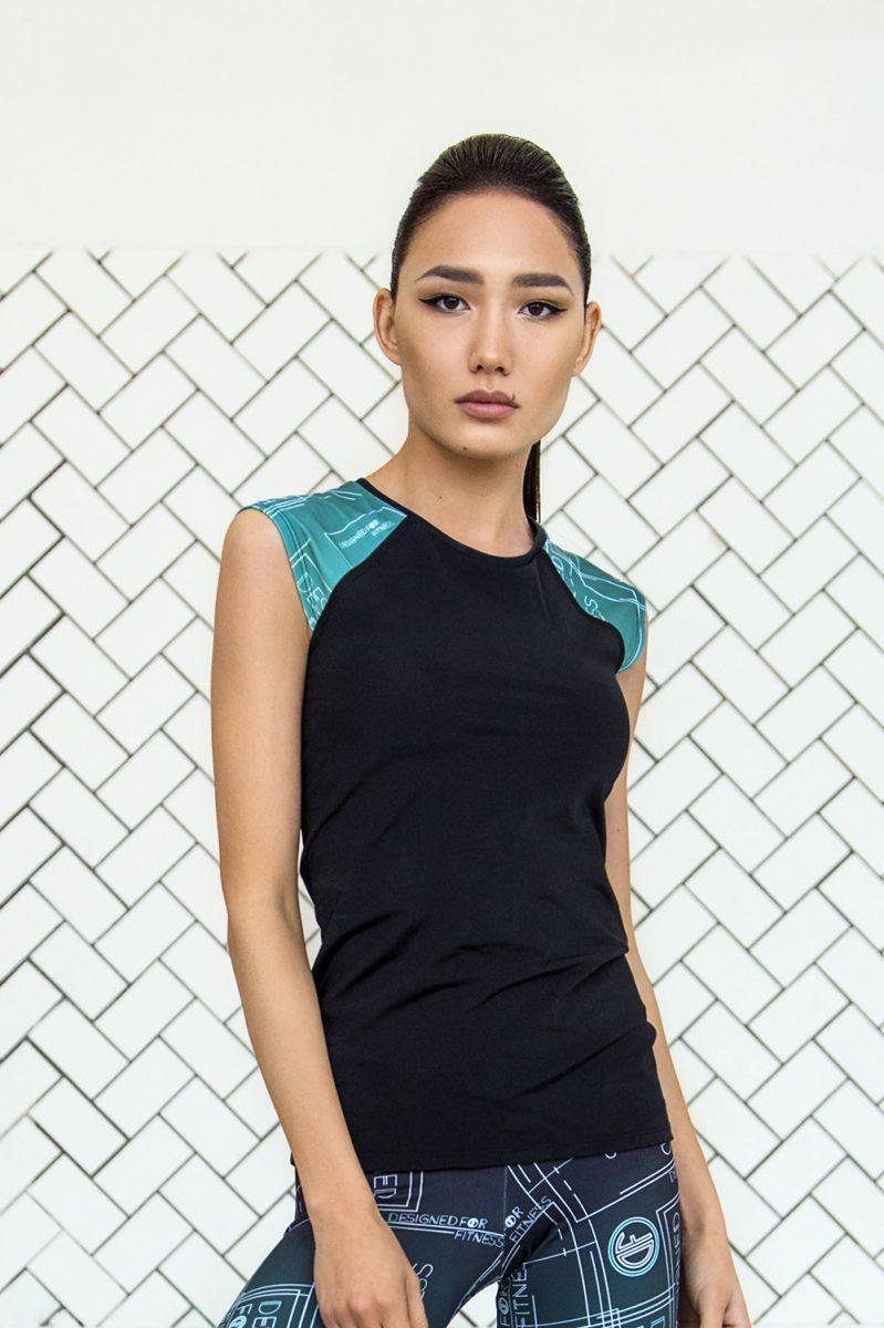 nuotrauka sportinių marškinėlių Gradient Mint - Designed For Fitness