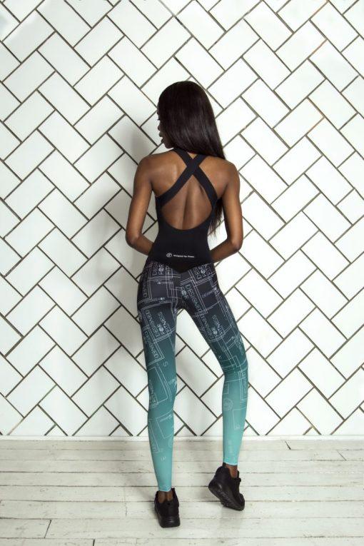 nuotrauka sportinio kombinezono Gradient Mint iš nugaros - Designed For Fitness