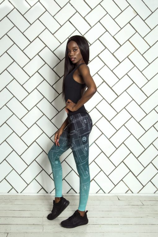 nuotrauka sportinio kombinezono Gradient Mint šonu - Designed For Fitness