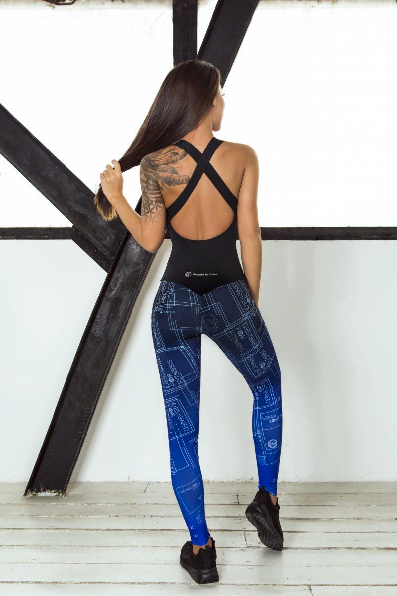 nuotrauka sportinio kombinezono Gradient Indigo iš nugaros - Designed For Fitness