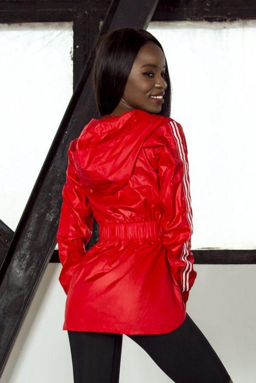 nuotrauka sportinės striukės Sport Red iš nugaros - Designed For Fitness