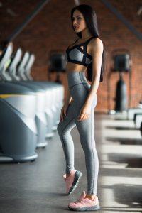 nuotrauka sportinio komplekto Jersey Grey iš šono - Designed For Fitness
