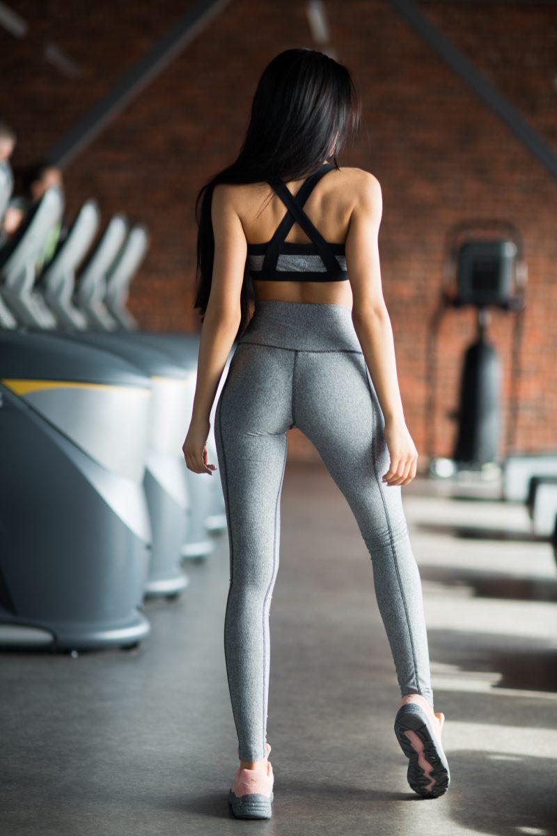 nuotrauka sportinio komplekto Jersey Grey iš nugaros - Designed For Fitness