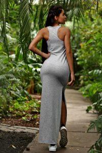 nuotrauka suknelė Light Grey iš nugaros - Designed For Fitness