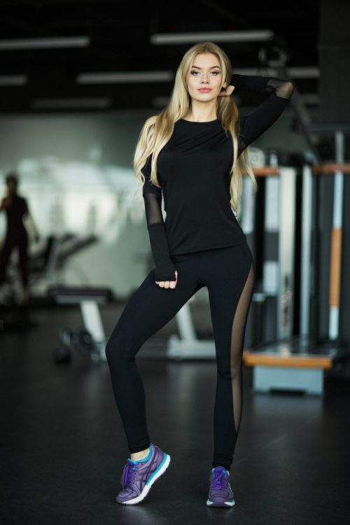 nuotrauka sportinio komplekto Basic Black - Designed For Fitness
