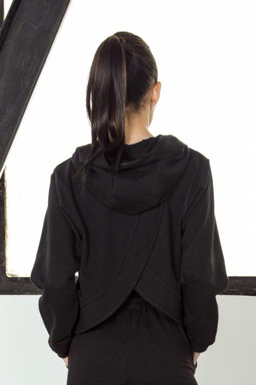nuotrauka džemperio streetwear Black iš nugaros - Designed For Fitness