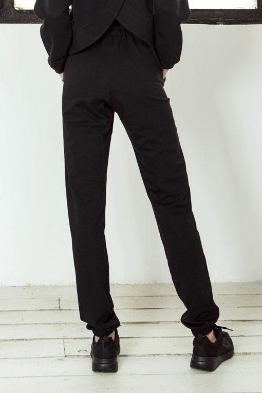 nuotrauka foto sportinių kelnių streetwear Black iš nugaros - Designed For Fitness